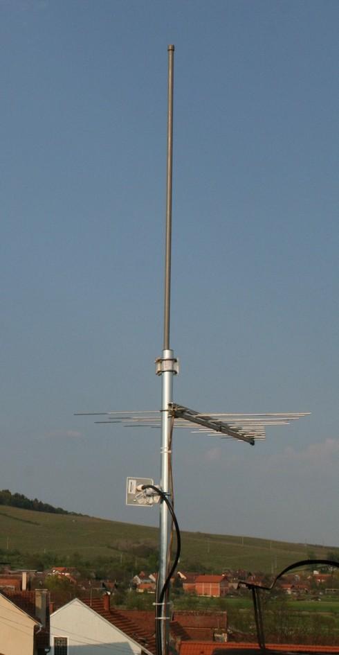 Pogled s najnovije pristupne točke na krovu Amfore